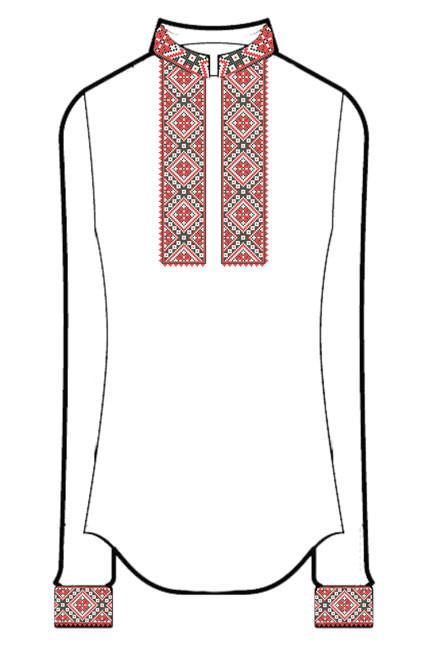 СВЖБ-35. Заготовка Жіноча сорочка лляна біла  продажа e68f2242c0b79