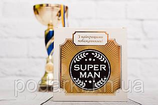 Шоколадная медаль Super man