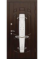 Элит входные металлические двери (ковка+стеклопакет) модель Арфа