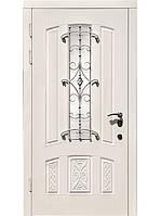 Двери входные бронированные мдф+ковка  модель Аркада