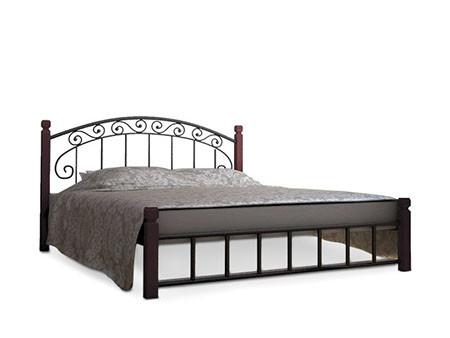 Кровать на дерев. ногах Афина 140х200  металлическая