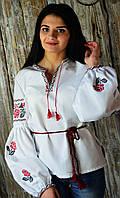 Женская вышиванка на домоткани