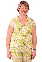 Короткий пиджак приталенный, белый , джиновый жакет. 46-54, Жк 002-6.