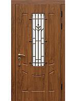 Двери входные бронированные  МДФ с ковкой Fortlock модель Арбат