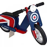 """Беговел 12"""" Kiddi Moto Scooter деревянный, сине-красная мишень"""