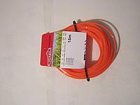 Леска косильная оранжевая Ø 3.0 звезда 15 м Winzor