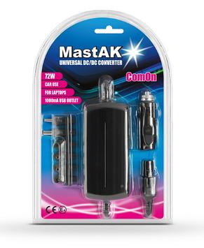 Автомобильный блок питания для ноутбука MastAK MW-1224U7 ( 77W )