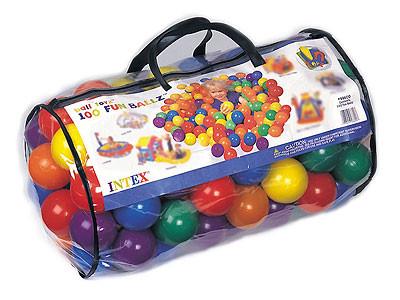Набор мячей для сухого бассейна, игрового центра 49600 Intex - Интернет магазин Постелюшка (Домашний текстиль, сумки, товары для дома и отдыха) в Харькове
