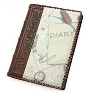 Кожаный ежедневник компас