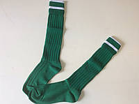 Гетры футбольные юниорские зеленые носок х/б р. 32-39