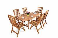 Обеденный набор деревянный KENNEDY BA 6+1 ,стол 150-190см