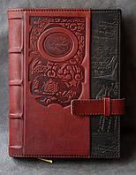 Элитный кожаный ежедневник формата А5, фото 1