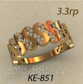 Интересное золотое женское кольцо 585  в виде символа бесконечности -  Мастерская ювелирных украшений «GOLD c867e9efb67bb