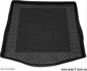 "Ковер багажника Ford Focus II 2004-2007 сед (запаска-полноразмерн.) (резино/пластик) ""REZAW"" черн."