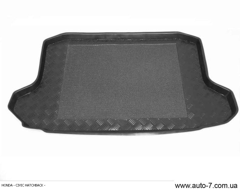 "Ковер багажника Honda Civic 2001-2006 хеч 5D (резино/пластик) ""REZAW"" черн."