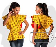 """Женская стильная блузка """"Горох Рюши"""""""