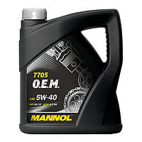 Моторное масло MANNOL 7705 O.E.M. 5W-40 for Renault Nissan 20л