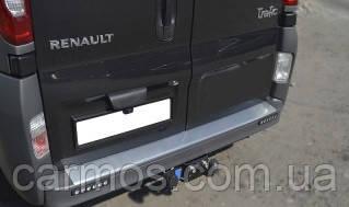 Накладка на задний бампер Renault trafic (Рено трафик), нерж.