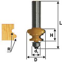 Фреза кромочная фигурная ф25.4х16, r3.2, хв.12мм (арт.10693)