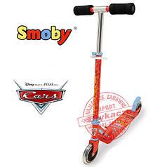 """Дитячий двоколісний самокат Smoby """"Cars"""" 450173"""