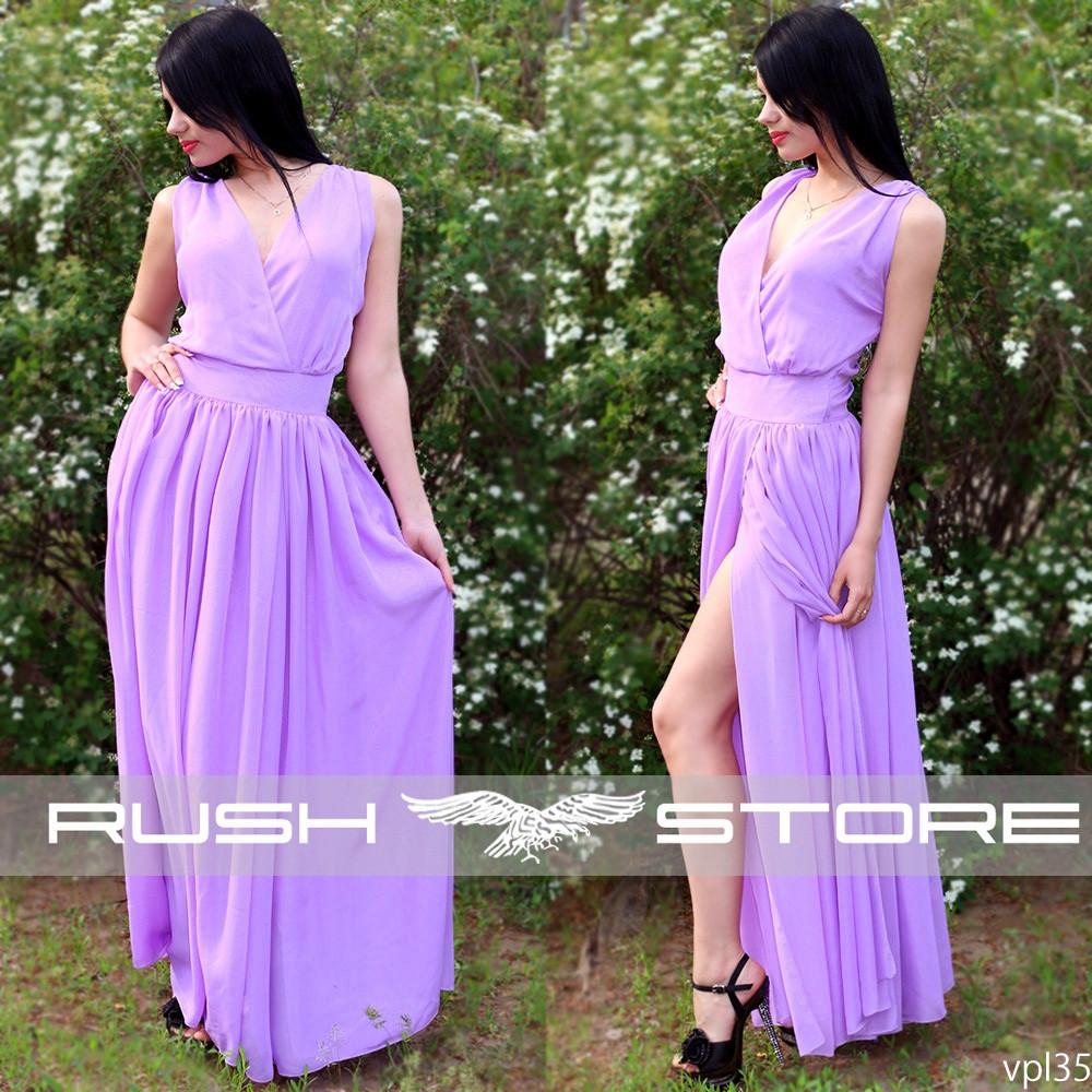 73fa564cf27d466 Купить Шифоновое платье в пол с запахом в Николаеве от компании ...