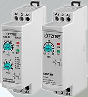Реле времени задержки включения импульсное таймер 0-3мин DIN дин рейку напряжение 24-220 цена купить