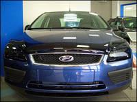 """Дефлектор капота Ford Focus II 2004-2007 """"SIM"""" темный"""
