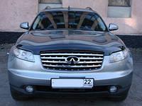 """Дефлектор капота Infiniti FX-35 (45) 2003-2008 """"SIM"""" темный"""