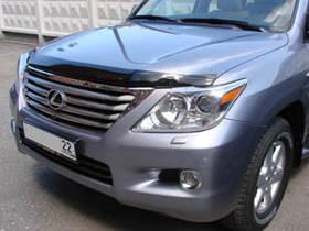 """Дефлектор капота Lexus LX-570 2007-> """"SIM"""" темный"""