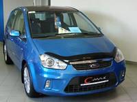 """Дефлектор капота Ford Focus C-Max 2007 и выше """"SIM"""" темный"""