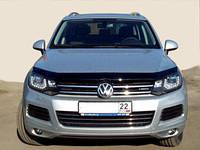 """Дефлектор капота Volkswagen Touareg 2010-> """"SIM"""" темный"""