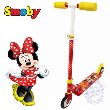 Самокат двухколесный minnie mouse smoby 450172 , фото 2
