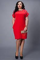 Красное строгое женское платье