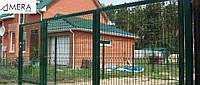 Ворота для дачи, оцинкованные с полимерным покрытием.