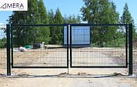Ворота из оцинкованного металлического прута, фото 1