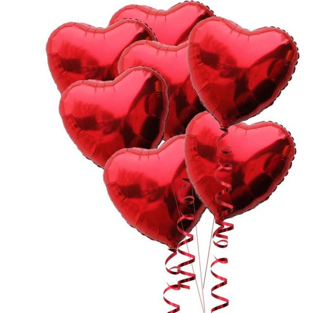 шар сердце на декоративной ленте