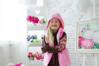 Нежно-розовая жилетка для девочки. 86, 92,, 98, 104, 110, 116, 122