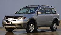 Дефлекторы окон Mitsubishi Outlander 2003-2009 EGR темные (4шт/комп)