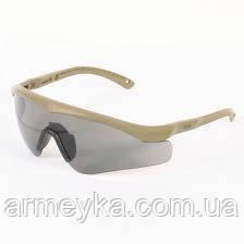 Баллистические очки Revision Sawfly 3 линзы, оправа Coyote Tan. Оригинал.