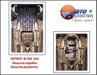 """Защита раздатки Infiniti M-35 (45) 2006-2010 4*4 """"Полигон"""" (В)"""