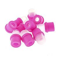 Колпачки для зажима ногтей, 10 шт/уп (пластмассовые)