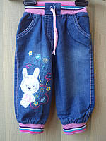"""Детские джинсовые штанишки """"Зайчик"""""""