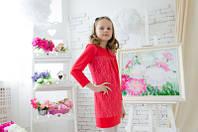 Красивое и стильное платье для девочек. Размеры 128, 134, 140
