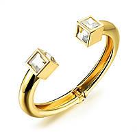 Женский браслет с крупными кристаллами N500
