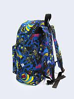 Классный рюкзак Batman texture с креативным рисунком из водостойкой ткани.