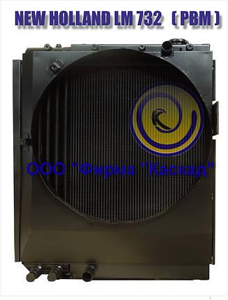 Радиатор охлаждения водяно-масляный для погрузчика телескопического NEW HOLLAND LM 732, фото 2