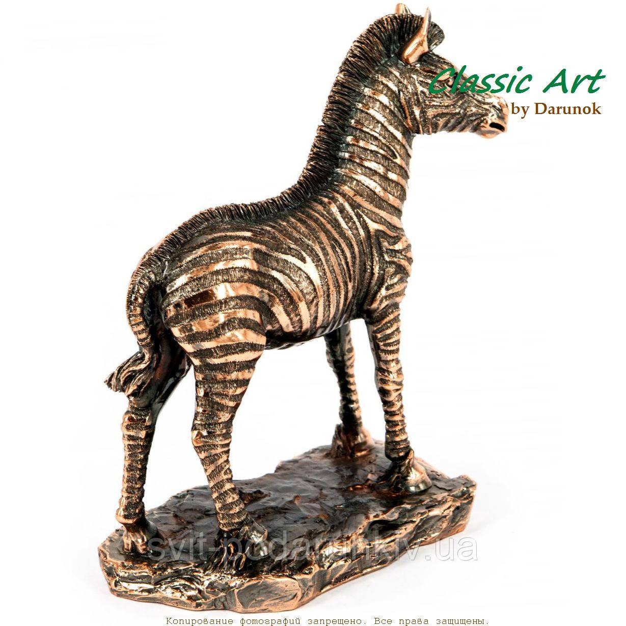 Статуэтка зебра фигурка из полистоуна