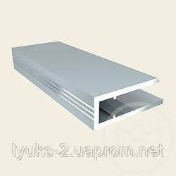 Торцевой алюмиевый профиль АПТ 4мм серебро