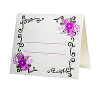 Рассадочная карточка для Юбилея или свадьбы. Недорого