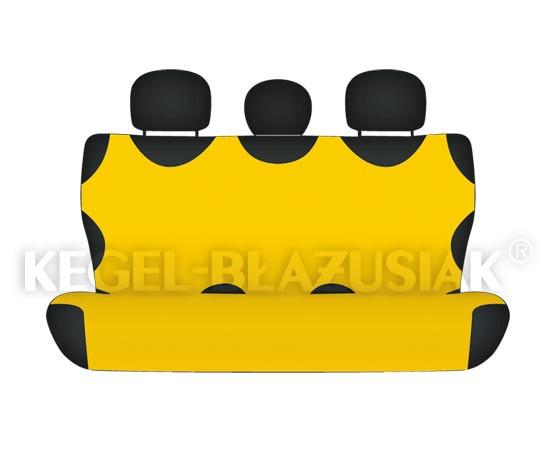 Майки на сиденья Kegel задние желтые (1шт/комп)